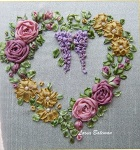 Victorian Roses and Wisteria silk ribbon kit from Lorna Bateman