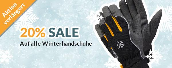Aktion verlängert: 20% auf alle Winter-Schutzhandschuhe