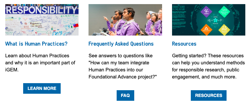img: screenshot from the Human Practices Hub