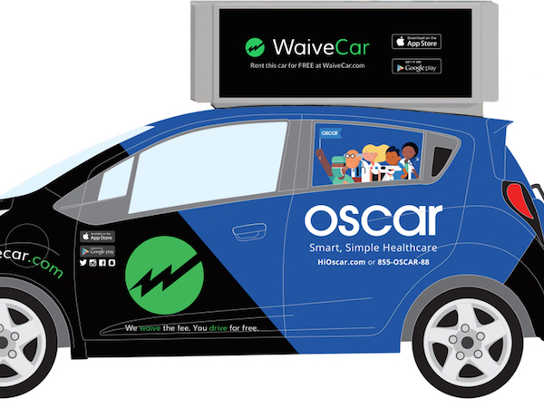 WAIVECAR PUTS ADS ON SHARED CARS SO YOU CAN DRIVE FOR FREE