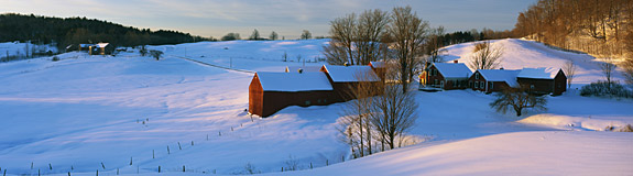 Photo of: Snow in a field.
