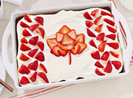 Picture of: Canada Day Strawberry Lemonade Cake