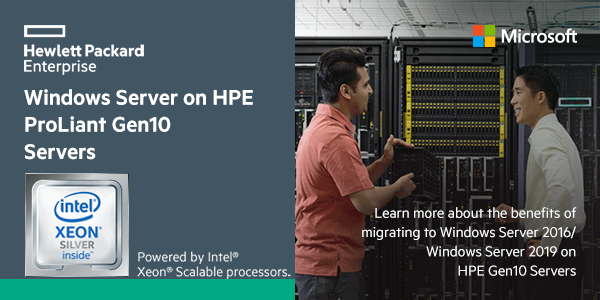 Windows Server on HPE ProLiant Gen10 Servers