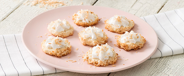 Photo of Coconut Cloud Cookies on a plate
