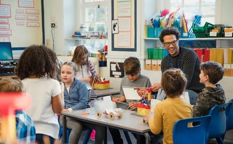 Elementary class with their teacher | Early Intervention Studies | UTEP Connect