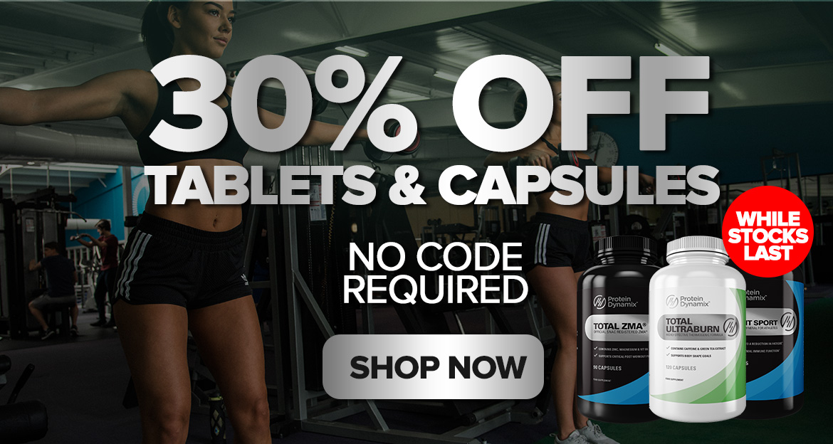 30% off all tablets & capsules