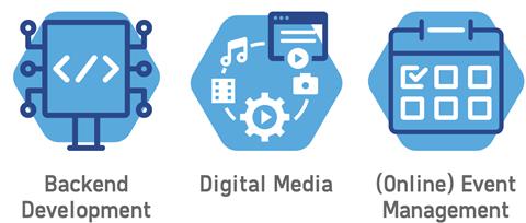 Backend Development, Digital Media, (Online) Event Management