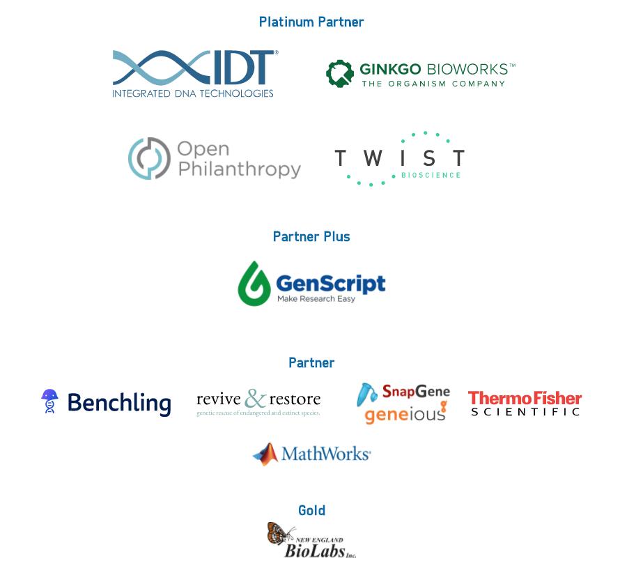 Image: iGEM 2020 Sponsor Logos