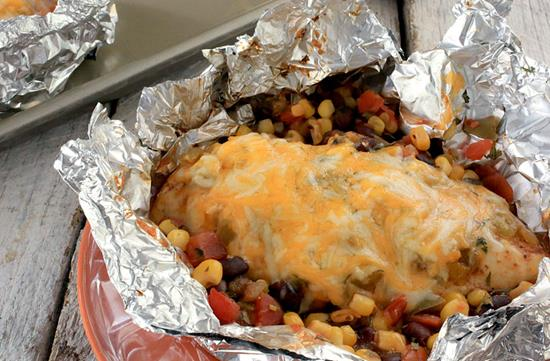 Southwest Chicken Foil Packets