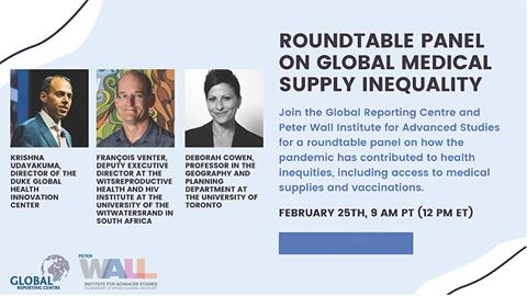 Virtual Roundtable on Global Medical Supply Inequality