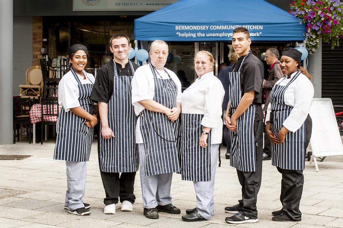 South Bermondsey community kitchen staff and students