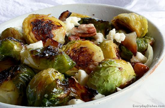 Roasted Brussels Sprouts with Feta