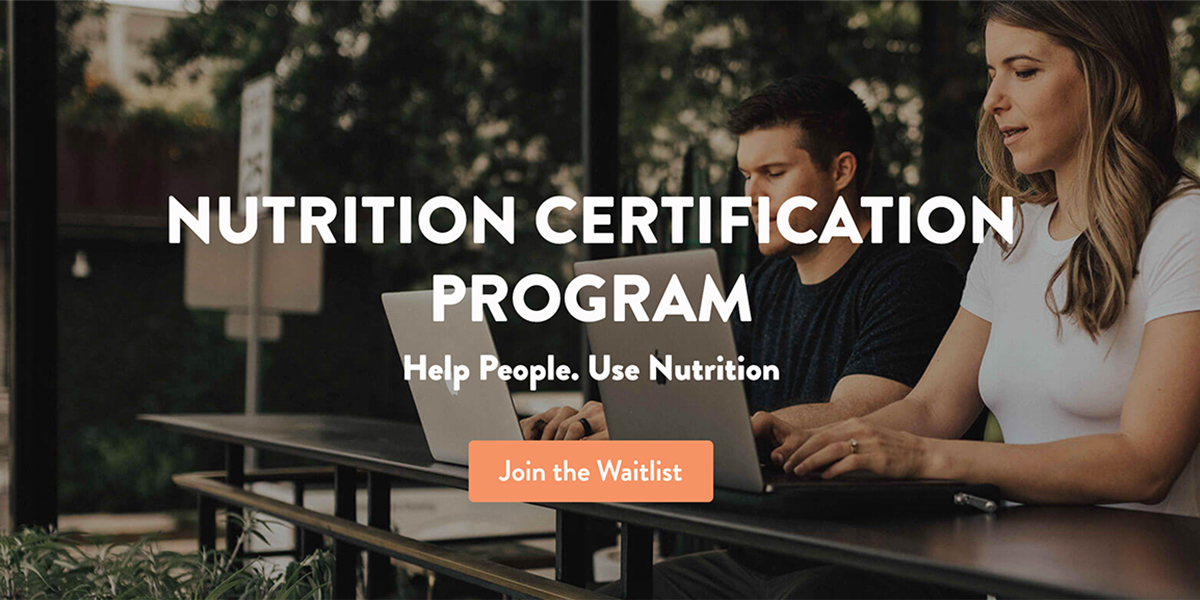 Change Lives by Becoming a Professional Nutrition Coach