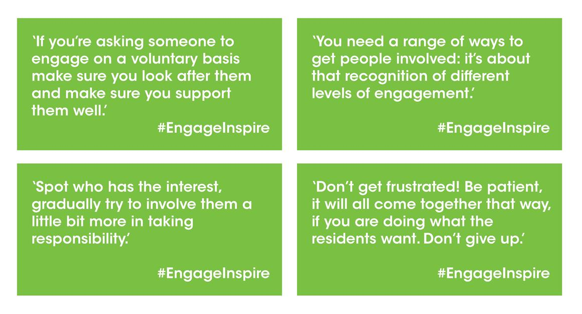 Areas' engagement tips
