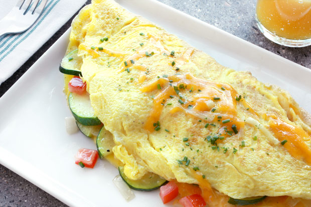 American-style omelet