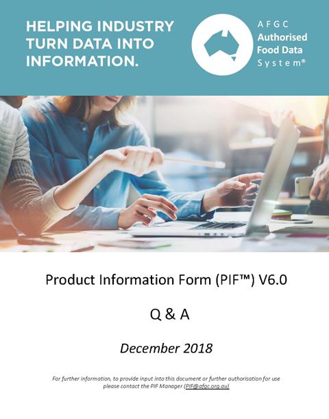 PIF V6.0 Q&A
