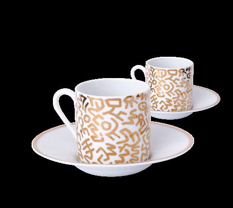 Keith Haring Gold Espresso Set