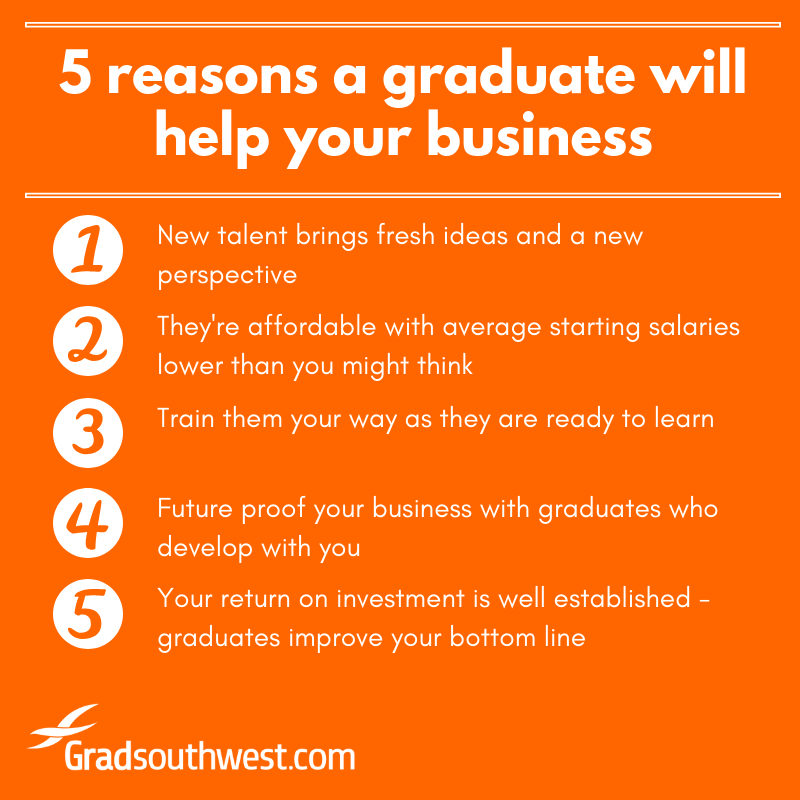 5 reasons a graduate will help your business