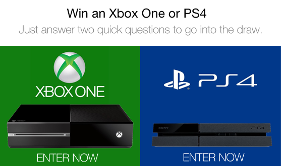 Win a xbox one or ps4