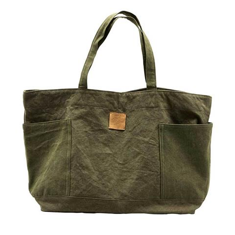 house doctor green army weekend bag