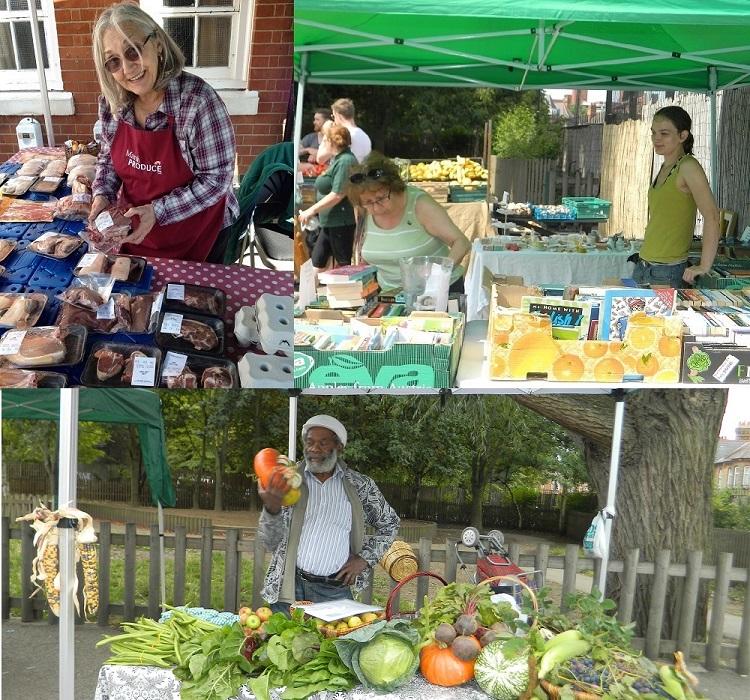 Noel Park community market stalls