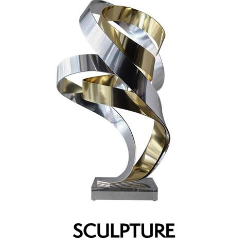 Brian's Song Sculpture Silver and Gold