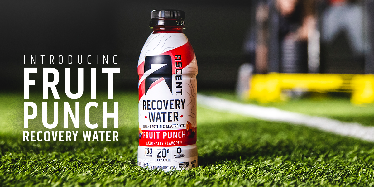 Introducing All-New Fruit Punch Recovery Water