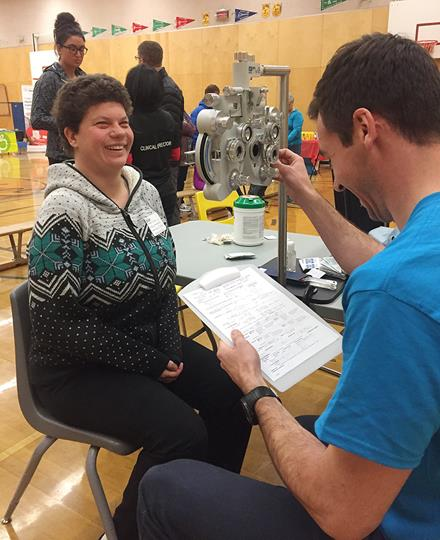 Special Olympics Healthy Athletes Opening Eyes screenings