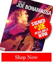 Handsigned Best of Joe Bonamassa Tab Book