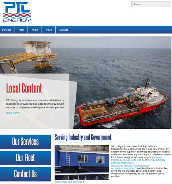 PTL Energy Website Homepage