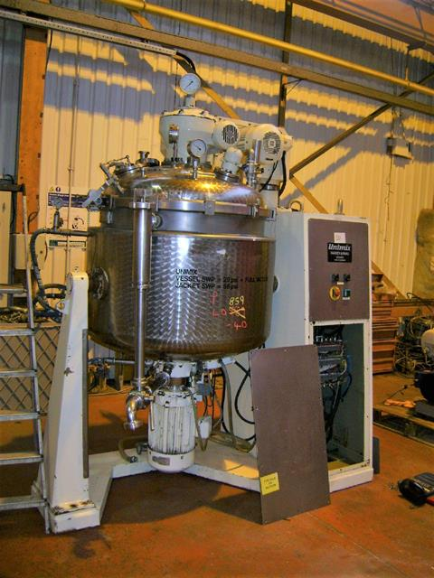 500 Litre 7 HP Haagen & Rinau Type SR500 316TI Stainless Steel Unimix Double Motion Processing Unit