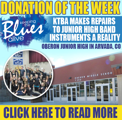 Donation of The Week: Joe Bonamassa's Non Profit Keeping The Blues Alive Foundation makes repairs to junior high band instruments a reality in Arvada, Colorado. Click here to read more