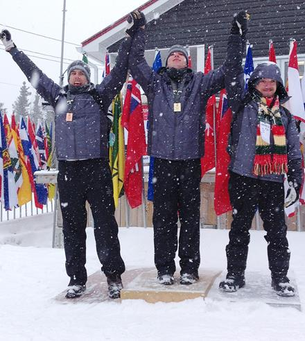 Special Olympics Team BC cross-country skiing podium sweep