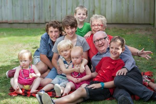Clarkie and Coralie's 'grand' family!