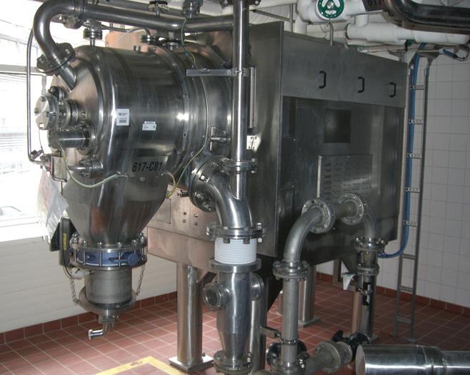 450mm x180mm Comi Condor Typ HT450 GMP Stülpfilterzentrifuge