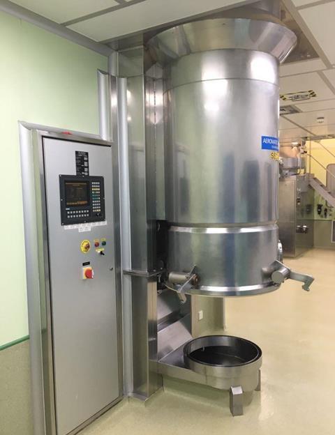 Aeromatic Model T-4 Stainless Steel Fluid Bed Dryer
