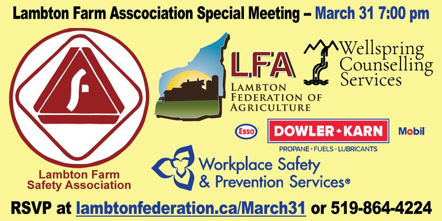 Lambton Farm Safety Association Special Meeting