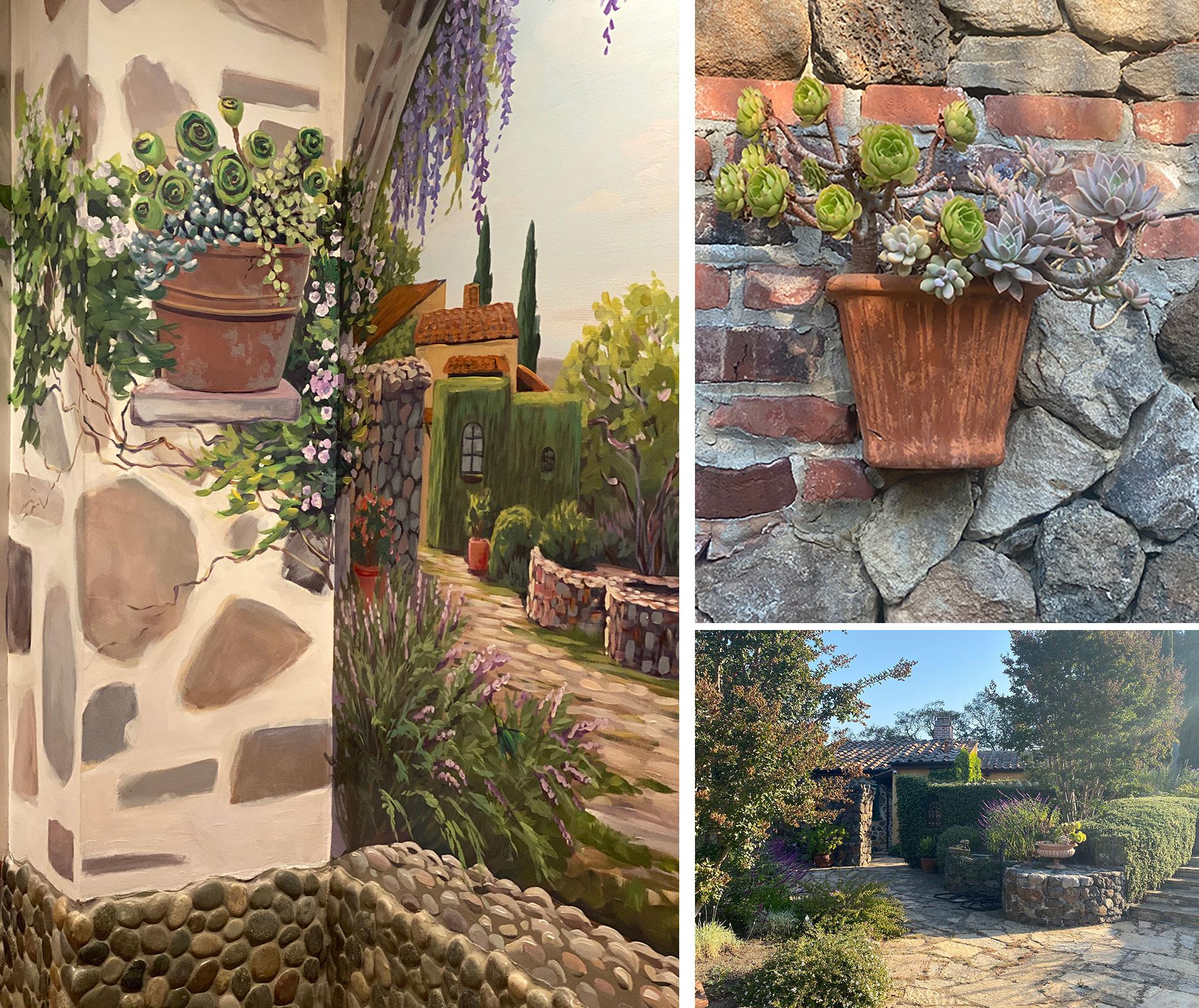 Indoor Succulent Garden Mural for House Wall