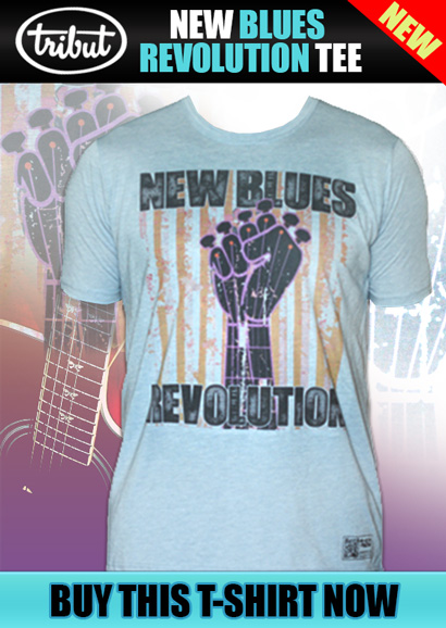 Tribut Apparel New Blues Revolution tee. Recruit your friends and family in this super soft tee. Buy Now