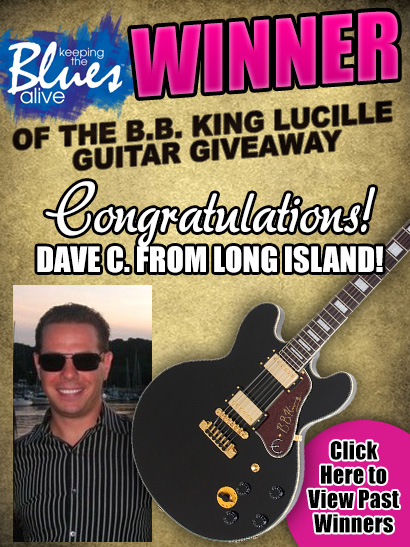 Keeping The Blues Alive Winner of the B.B. King Lucille Guitar Giveaway. Congratulations Dave C. from Long Island!