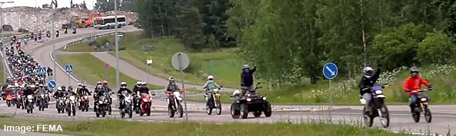 Moped Meet in Finland