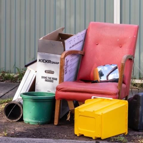 Illegally dumped rubbish