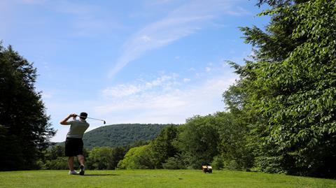 golfer on a teebox