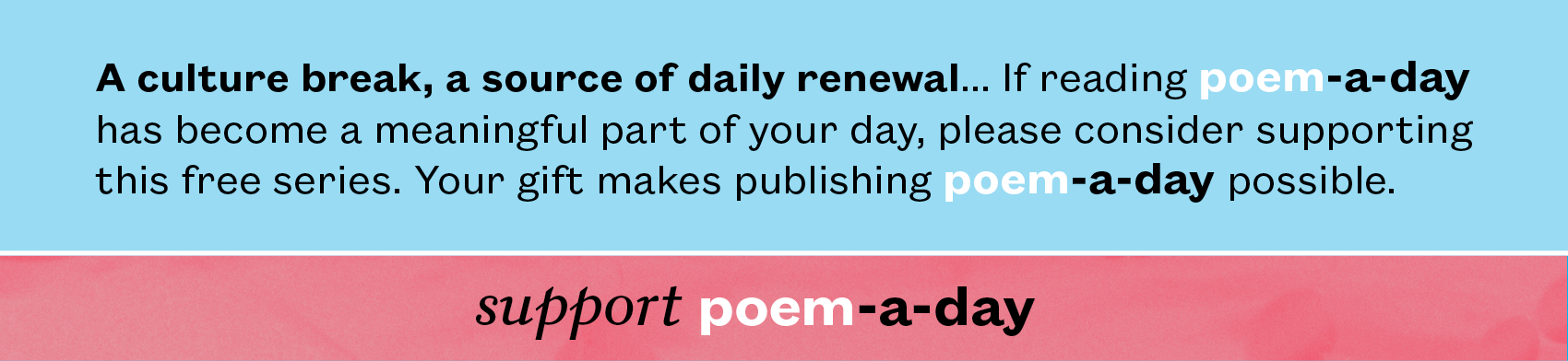 support poem-a-day