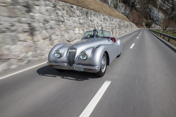 Jaguar XK 120 (1952) - in Fahrt