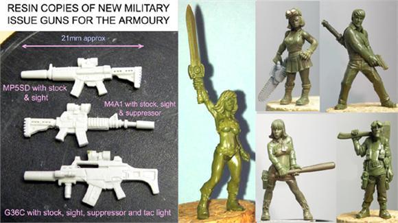New guns, female 'He-Man', Tooled-up teenage gang